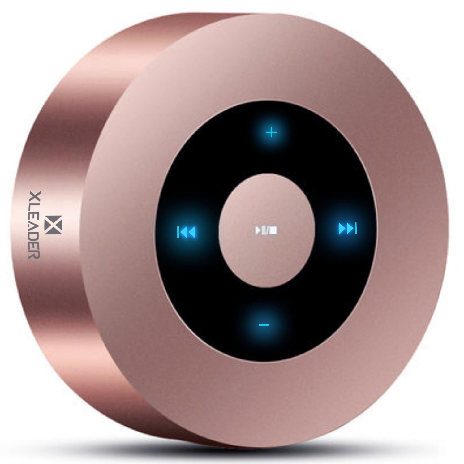 [LED Touch Design] Bluetooth Speaker, XLeader Portable Speaker with HD Sound / 12-Hour Playtime / Bluetooth 4.1 / Micro SD Support, for iphone/ipad/Tablet/Laptop/Echo dot (Rose gold) by XLeader