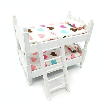 Amazon.com: Posee Miniature Children Bedroom Bunk Bed ...