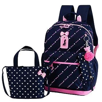 Mochila escolar (2 piezas), bolso escolar para niñas, mochila portátil de nylon Mochila para estudiantes universitarios por Beatie: Amazon.es: Bricolaje y ...