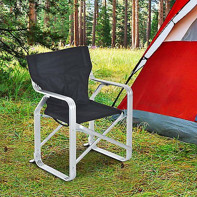 Folding Camping Chair Picnic Fishing Padded Seat Aluminum Oxford Deck Beach - Over Dual Reclining Loveseat