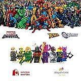 8 Minifigures MARVEL Universe X-Men Galactus, Nova, Deadpool (yellow version), Hawkeye (two versions), Phoenix, Cyborg, Red Robin Minifigure Series Building Blocks Sets Toy Compatible With Lego (No box, no card)