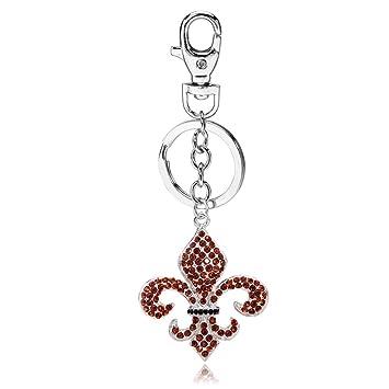 Amazon.com: liavy Fleur de Lis encanto moda llavero – vidrio ...