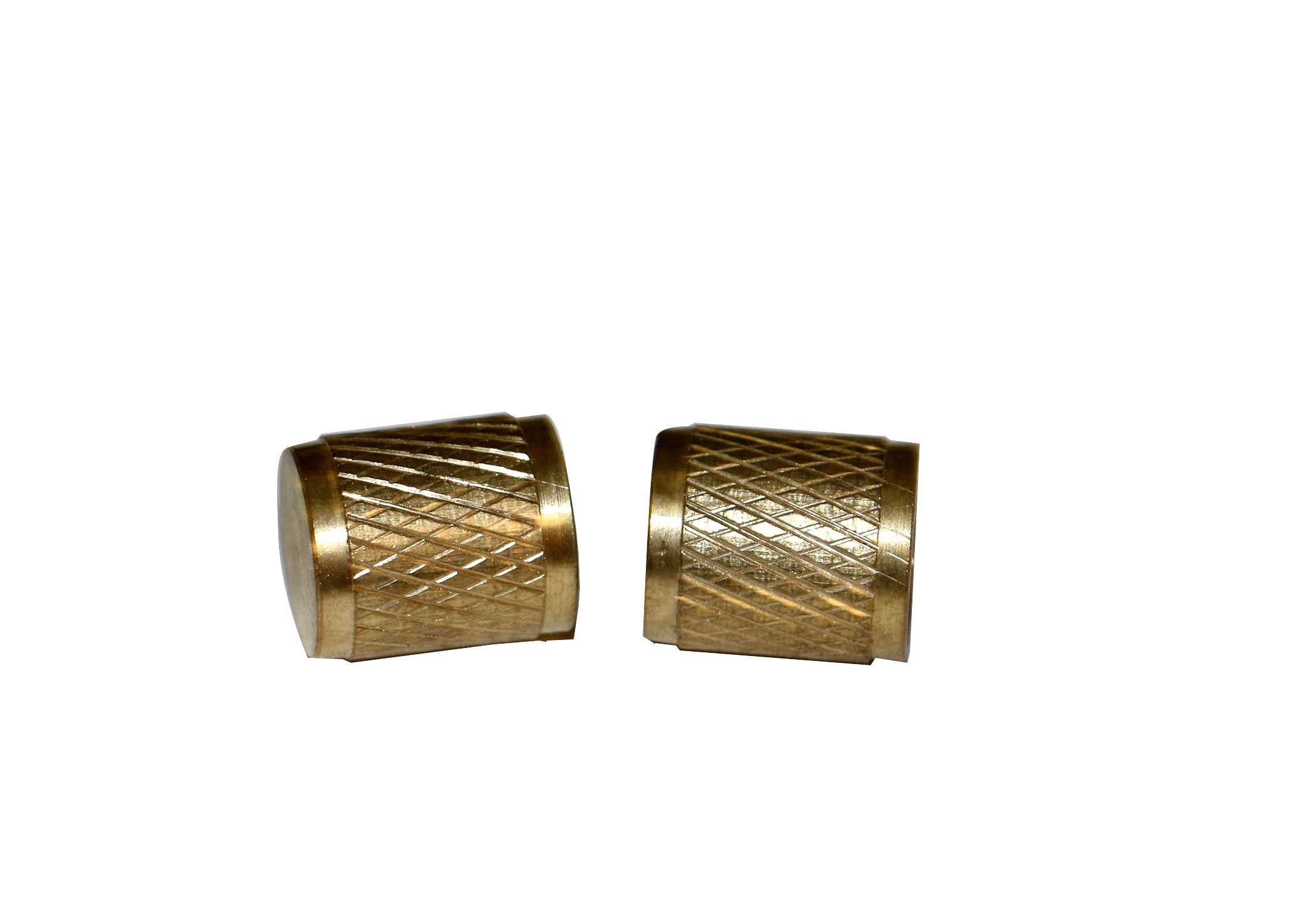 Enviro-Safe not Including Shipping R12 R22 R502 Brass 1/4'' Gnarled Service Caps 2 Pack #3408 by Enviro-Safe (Image #1)