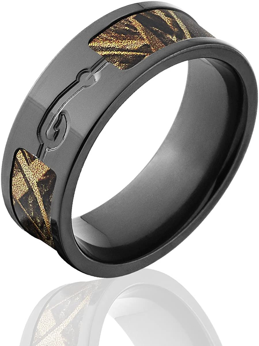 Official Realtree The Jewelry Source Titanium Camo Rings Fish Hook Ring