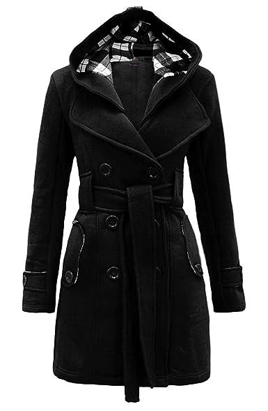 Amazon.com: Noroze Womens Check Hood Plus Size Duffle Coat: Clothing