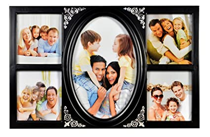 buy deep classic mini collage 5 in 1 black photo frame online at low