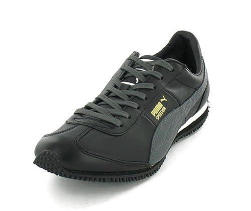 Puma - Zapatillas de Deporte de Piel Lisa Hombre, Negro (Negro), 40: Amazon.es: Zapatos y complementos