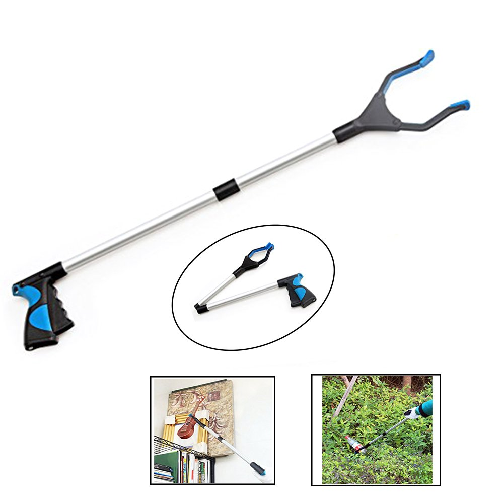 Grabber Reacher Tool,PDFans Pick Up Reaching Tool,Foldable Aluminum Long Arm Litter Picker,Heavy-Duty 32