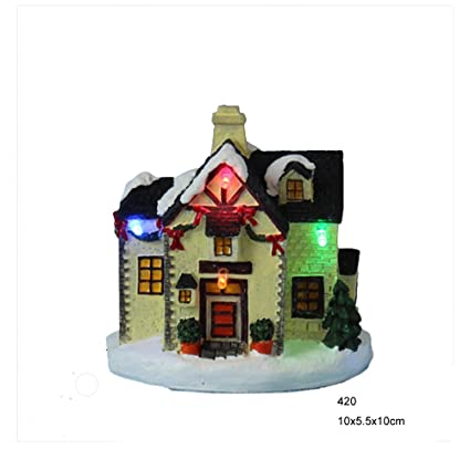 Christmas Village Houses.Amazon Com Innodept12 4 Led Polyresin Small Christmas