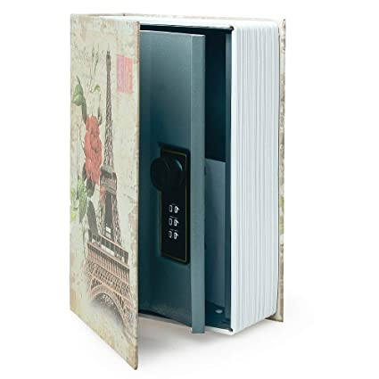 Small Sized Diversion Book Safe Storage Box Dictionary Secret Safe Can With Security Combination Lock Key Diversion Book Hidden Safe Small Size