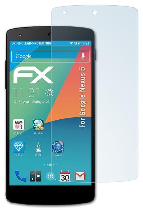 130 opinioni per Google Nexus 5 Pellicola Protettiva- 3 x atFoliX FX-Clear ultra trasparente
