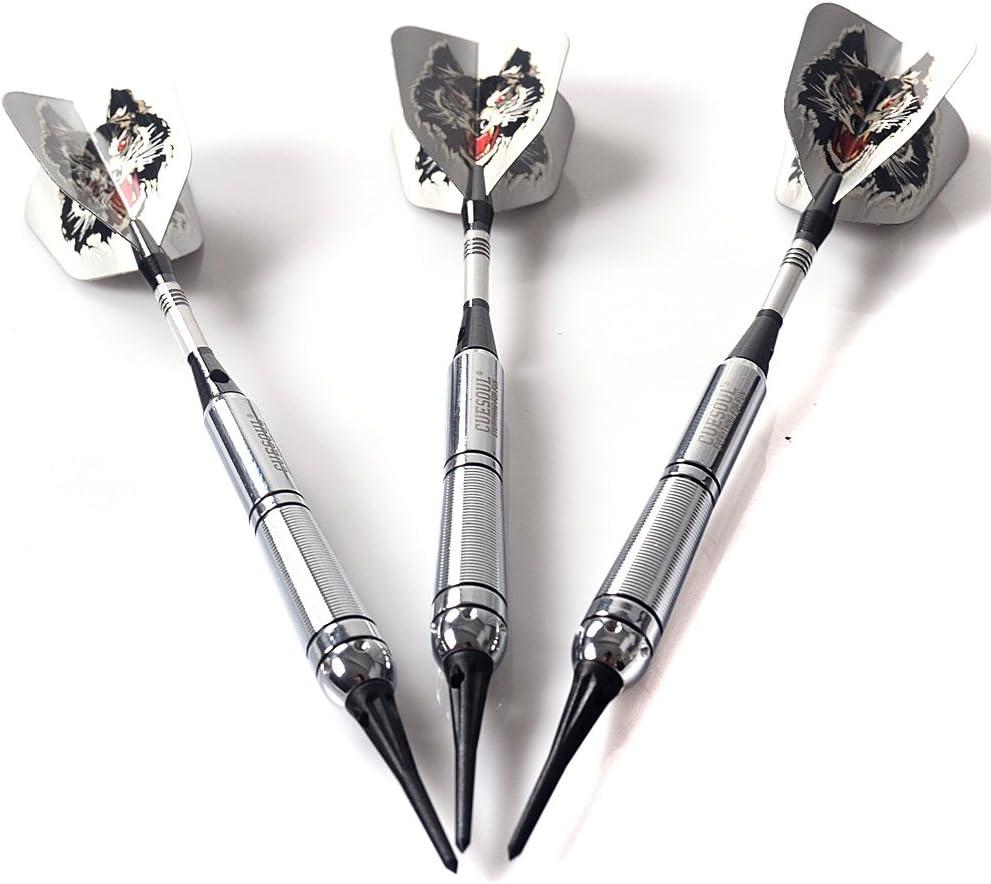 The Sky Wolf Series CUESOUL New Dardos de Pl/ástico 3 Complete Dardos 16-gram Barrels
