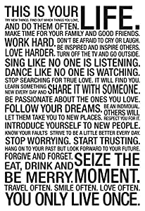 This Is Your Life Motivational Poster 13 x 19in