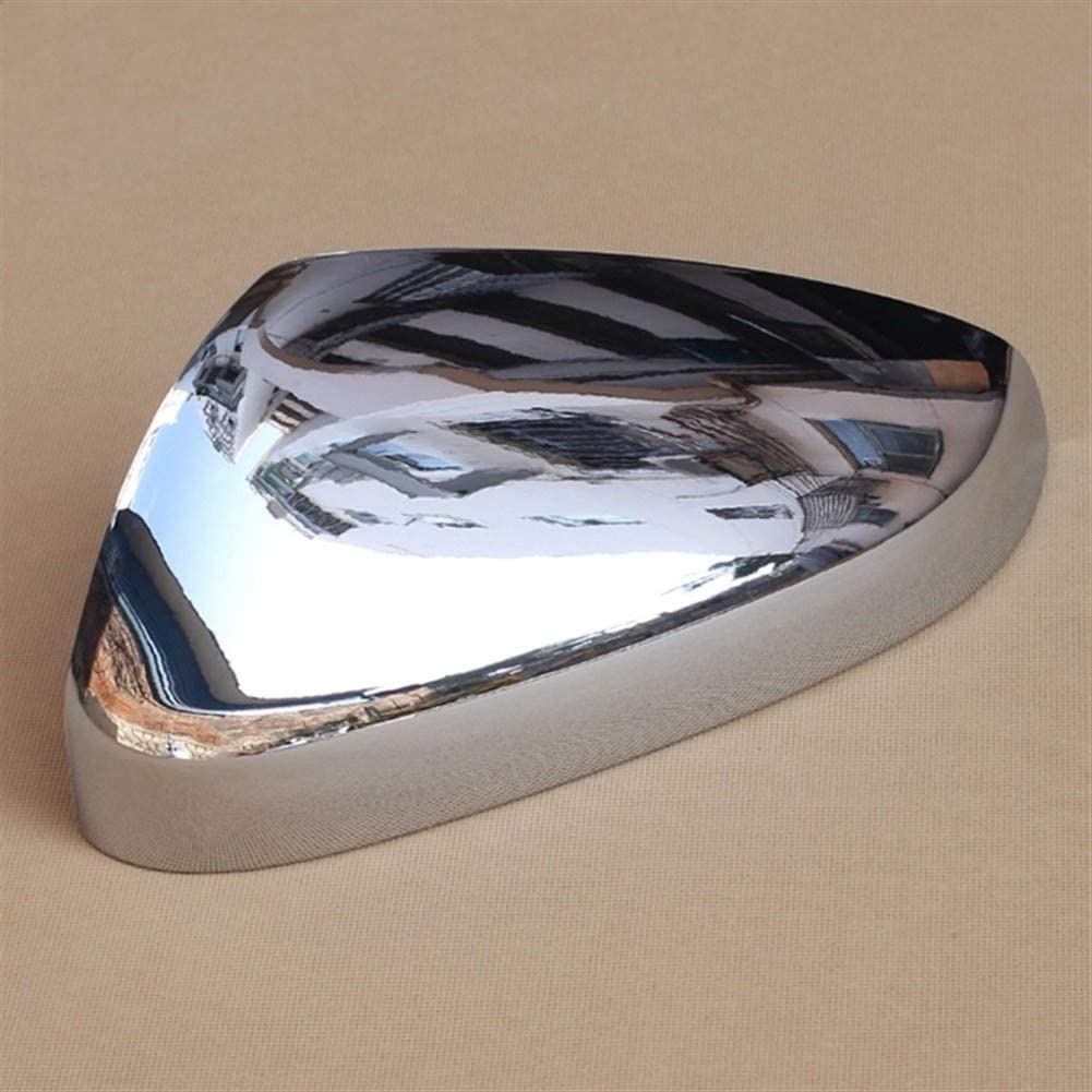 Car Mirror ricambio bossoli Chrome Specchietto laterale Specchi coppie lucide copertura Accessori for Peugeot 3008 5008 2017 2018 retrovisore Vista posteriore Overlay Color : Silver