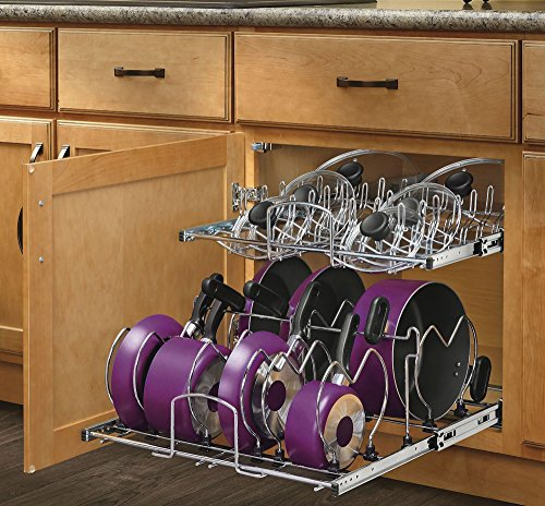 Rev-A-Shelf - 5CW2-2122-CR - 21 in. Pull-Out 2-Tier Base Cabinet Cookware Organizer (Pan Organizer Pot)