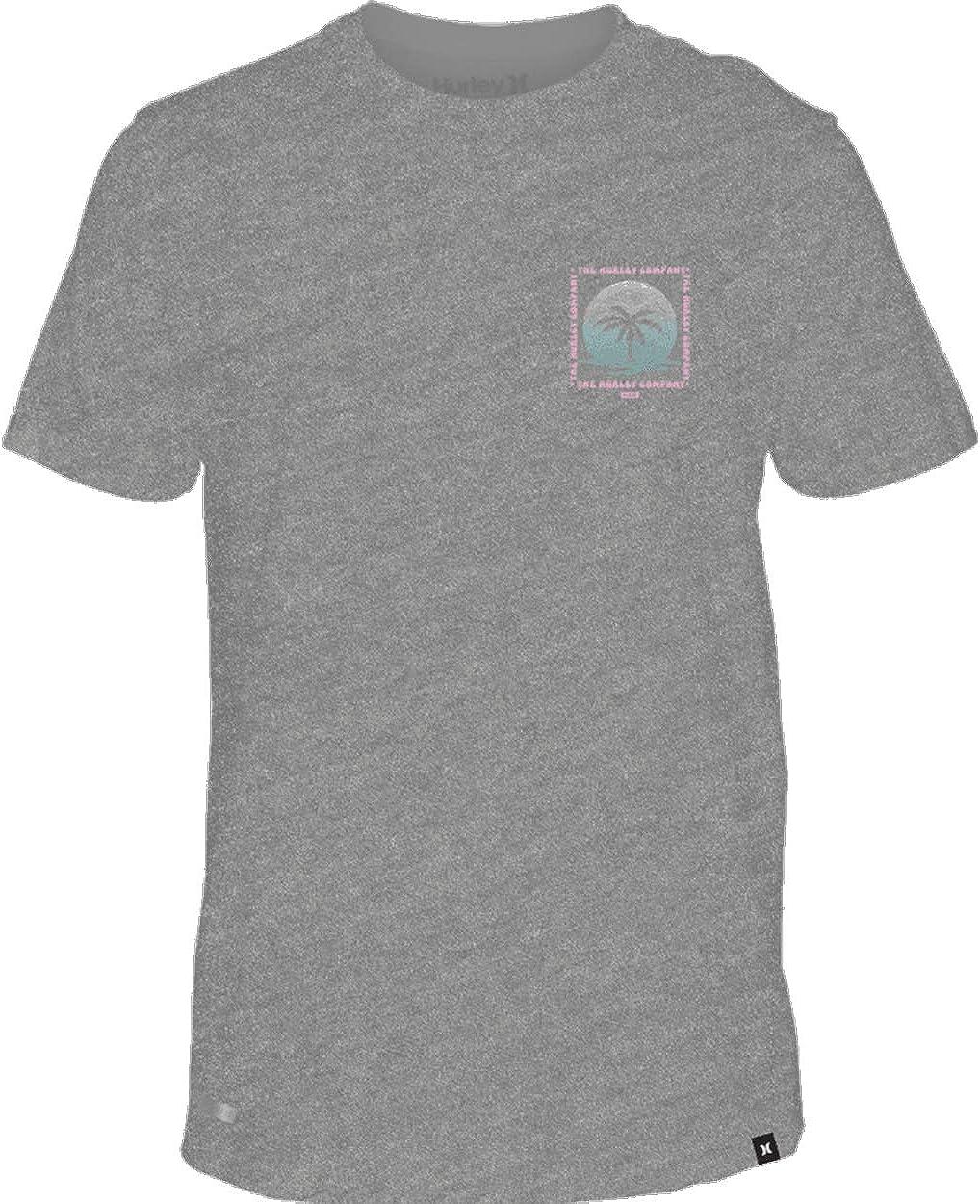 Hurley Men's Dri-Fit Trippy Palms Short Sleeve Shirt: Clothing
