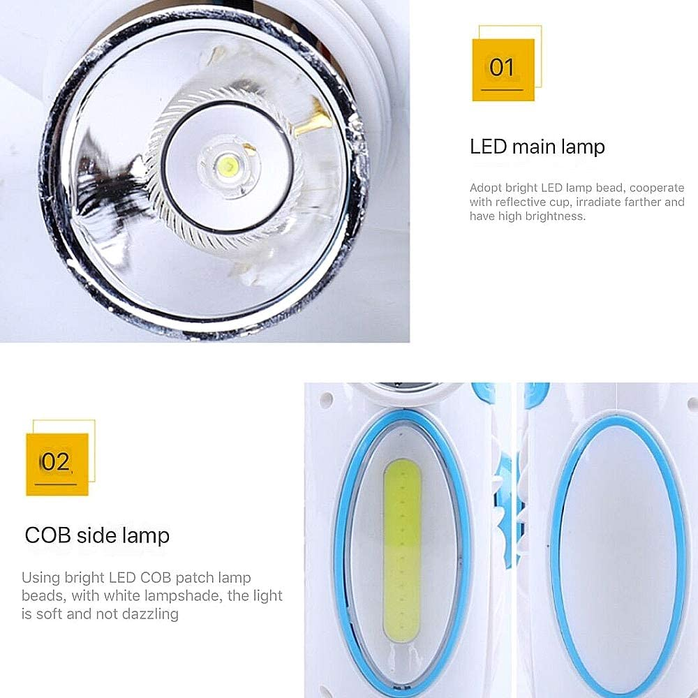 NCBH Mini Fan LED Table Lamp,USB Wireless Mini Fan 3600 Mah Rechargeable,Hand Held Fan Personal Cooling for Home,Office,Outdoors
