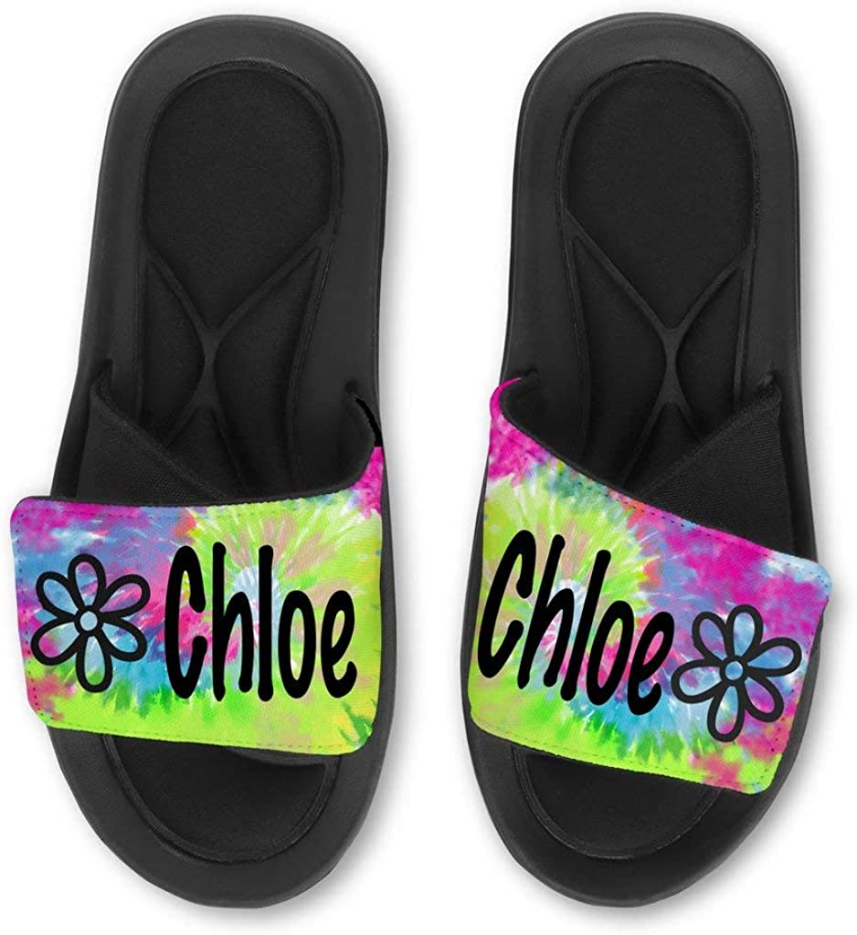 INTERESTPRINT Womens Lightweight Casual Style Slide Sandals US6-US12 Old Lettering