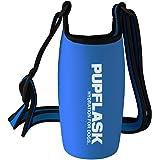 Tuff Pupper PupFlask Insulated Neoprene Dog Water Bottle Holder Sling with Wide Adjustable Shoulder Strap, Great for Travel,