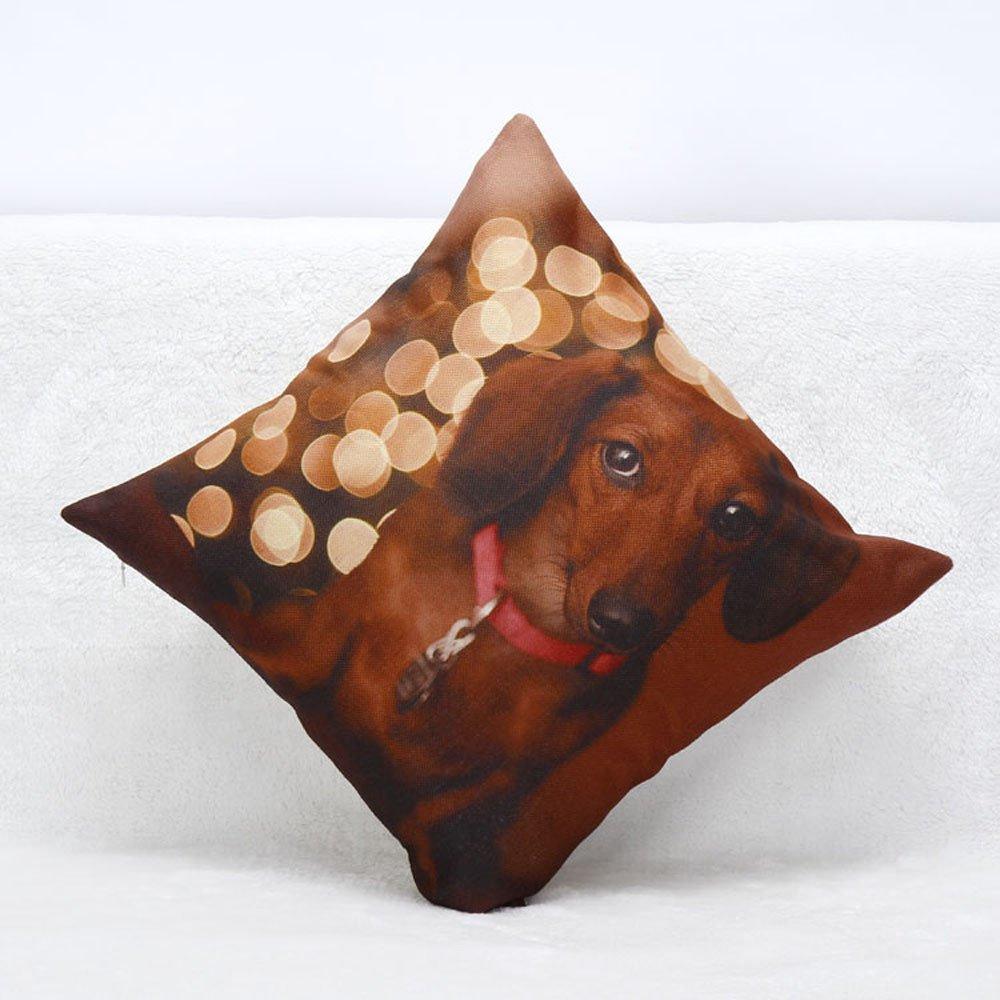 Tiger Lion Gorilla Owl Cat Home Decoration Sofa Waist Throw Pillow Case Cotton Linen Cushion Cover 18 X 18 Inch A H.eternal Animal Pillow Cases