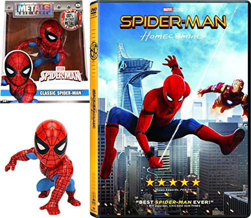 Classic Spider-Man Figure & Homecoming Movie Pack DVD Marvel Super hero Chrome 2017 Metal M261 4