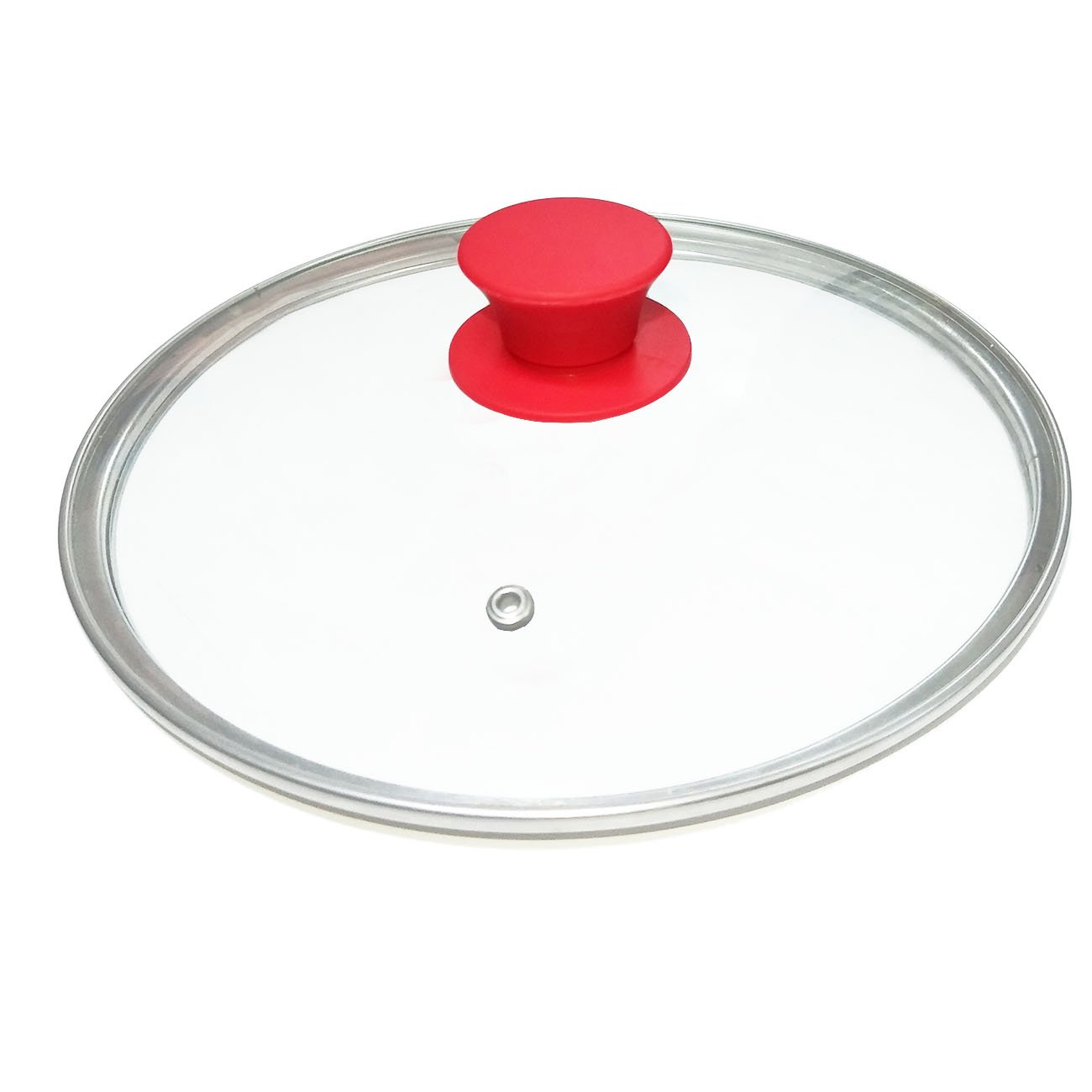9 Inches Tempered Glass Lid 6 Quart (with Red Silicone Handle Knob) for Instant Pot Accessories+ Free Silicone Sealing Ring for 6 qt + Free Cooker Times Tag