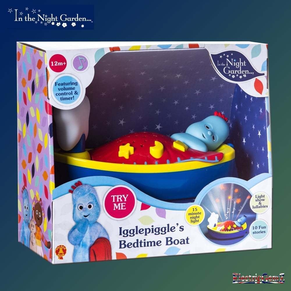 B-Creative In the Night Garden Igglepiggle's Bedtime Boat with Light Music and Stories