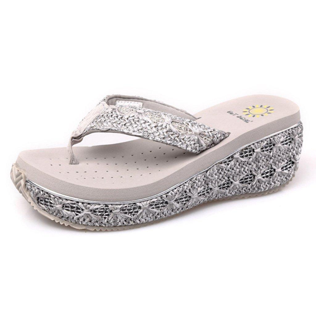 GIY Womens Platform Slides Sandal Summer Outdoor Open Toe Outdoor Summer Flatform Slip On Flip-Flops Wedges Sandals B07DNCC3C6 Parent 17ec4b