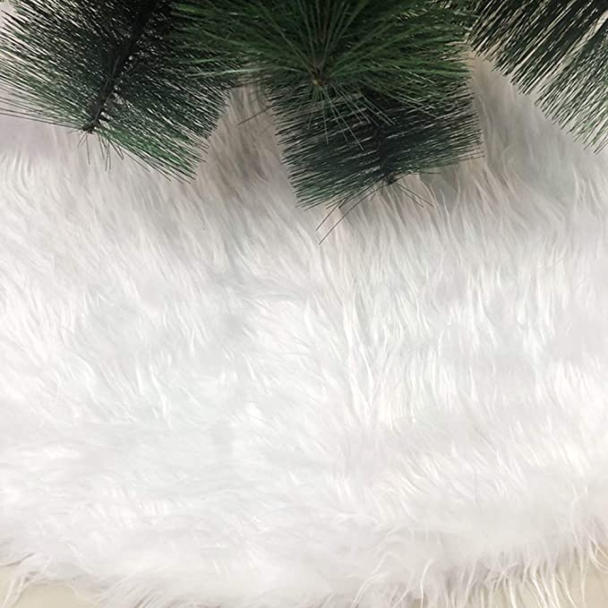 Queta 90cm Alfombra del /Árbol de Navidad Redonda Adornos para /Árboles de Navidad A/ño Nuevo Fiestas para Hogar Falda para /Árbol de Navidad