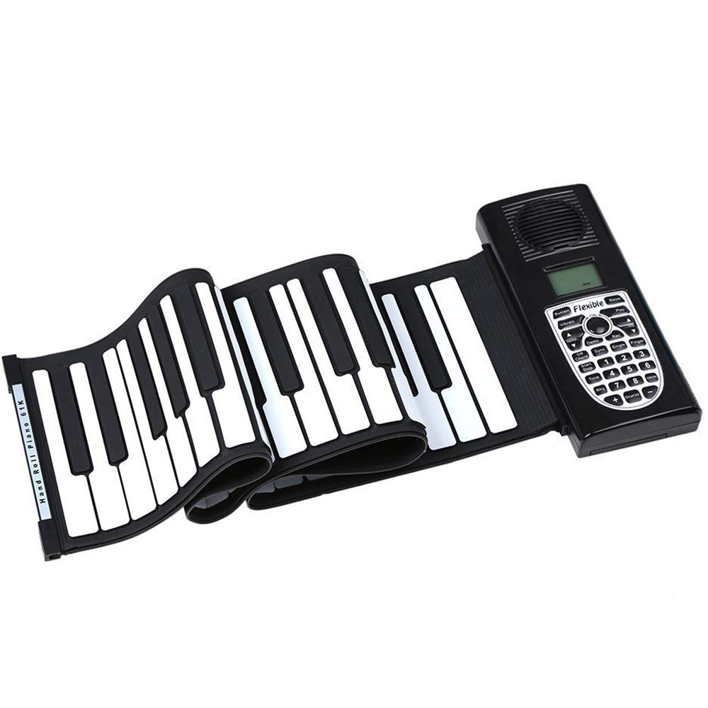 BESTSOGER Portable Pieghevole 61-Tasti Pianoforte Midi Tastiera Flessibile Soft Silicone 128 Toni, Registrabile, Altoparlante Incorporato per Bambini Adulti Principianti