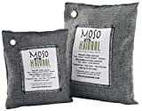 Moso Natural 200g and 500g Air Purifying Bag Deodorizers. Odor Eliminator for Cars, Closets, Bathrooms and Pet Areas. Absorbs and Eliminates Odors Charcoal Color
