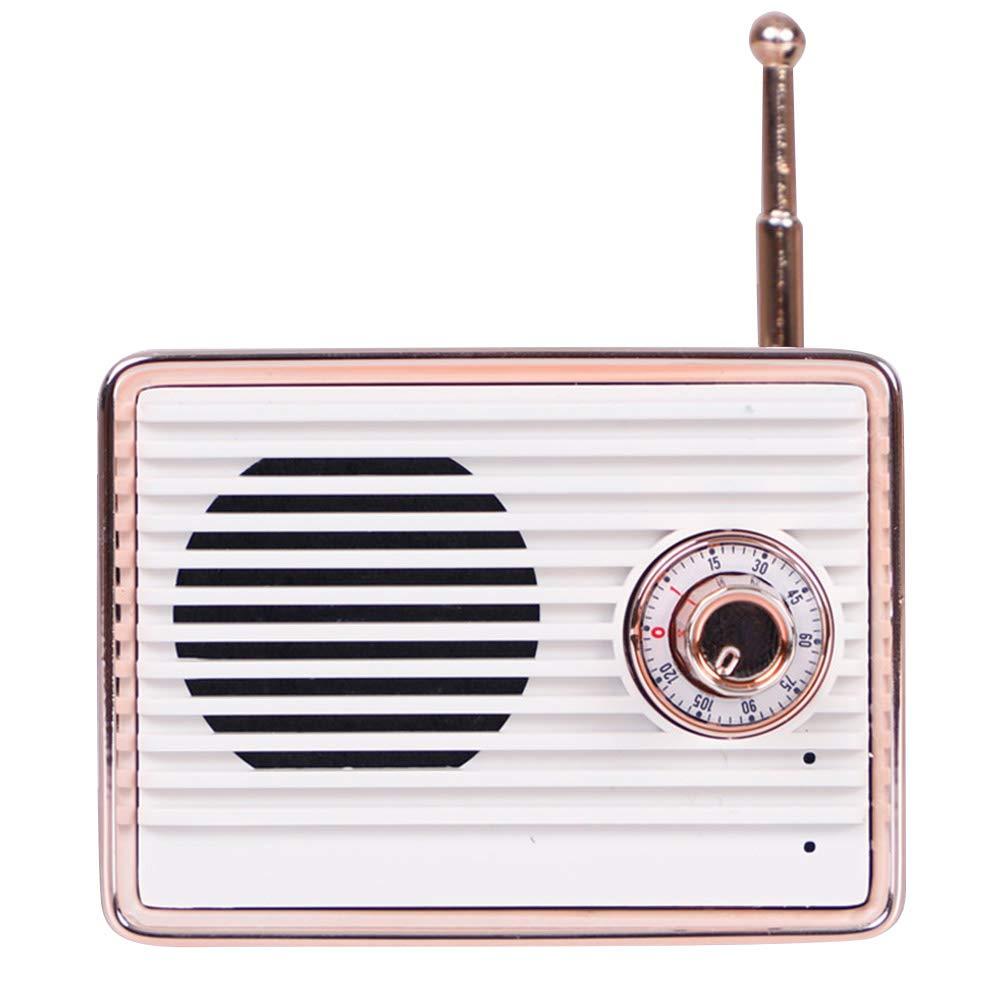 Leoattend Wireless Speakers,Portable Speaker,Mini Speaker,Retro Wireless Communication Speaker Radio Shape Vintage Mini Cute Speaker (1x Charging Cable,1x Instruction Manual, 1x Speaker) by Leoattend