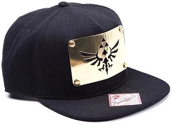 Zelda Nintendo Triforce Logo Golden Metal Plate Snapback Cap  Amazon ... 153ea43727b