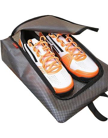 Runfon Bolsa de Zapatos de Rejilla de Viaje, Bolsa de Almacenamiento de Malla portátil con