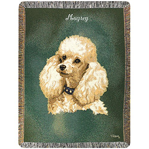 Poodle Throw - Poodle White - Personalized Dog Breed Throw Blanket, Handcrafted Canine Pride
