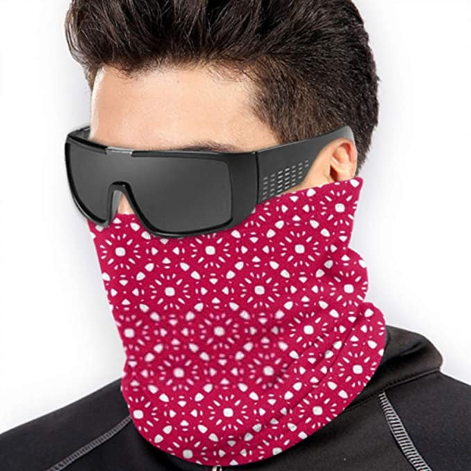 Neck Gaiter Half Fleece Neck Warmer ,multifunctional Horizontal Seamless Pattern With Of Vector Scarf,a Full Face Mask Or Hat Neck Cap ,ski Mask