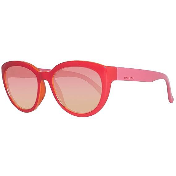 economico per lo sconto 7d1a1 7af55 BENETTON BE920S02, Occhiali da Sole Donna, Rosso (Red/Pink ...
