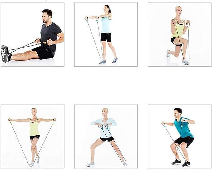 Biluer 3PCS Bandas Fitness elásticas Hacer Ejercicio Resistencia Musculacion Entrenamienton Utilizado para La Rehabilitación Muscular(15 Libras De ...