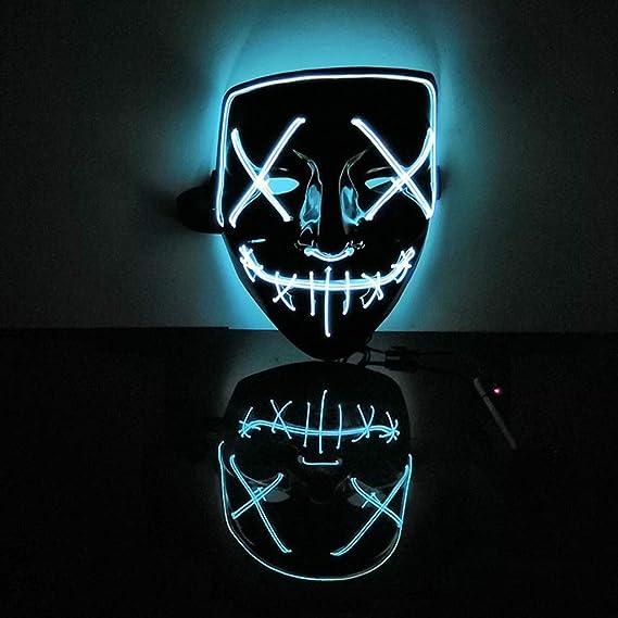 Transpirable Máscara LED Máscara de Miedo de Halloween Cosplay ...