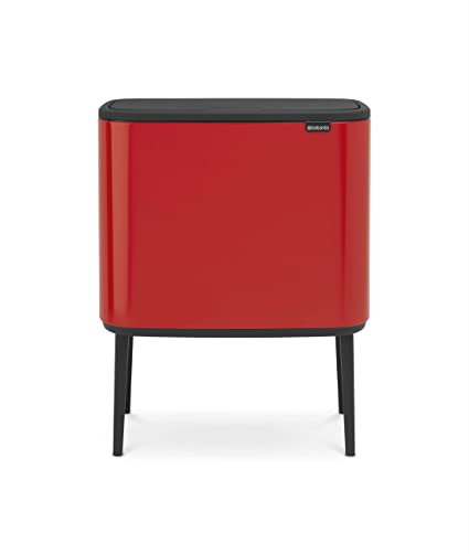 Brabantia Touch Bin 30 L Mat Zwart.Brabantia Bo Touch Bin With Plastic Buckets 11 L And 23 L Passion Red Steel 2 Inner