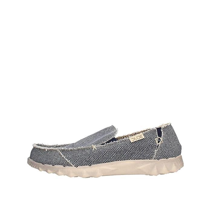 Dude Shoes Hombres Farty Natural Azul Algodón Orgánico: Amazon.es: Zapatos y complementos