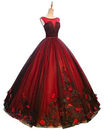 Annies Bridal Floral Applique Tutu Long Prom Evening Dresses For
