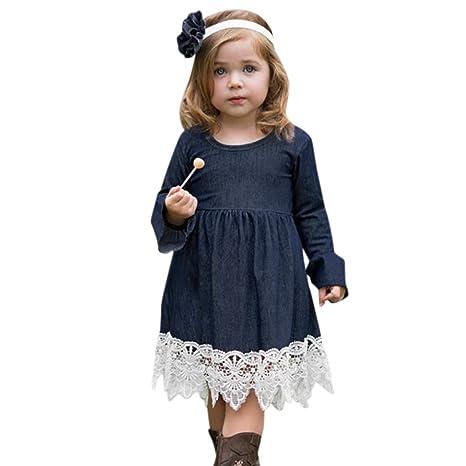 Amlaiworld Falda niña Vestido de princesa de bebé Niñas Vestido de fiesta de manga