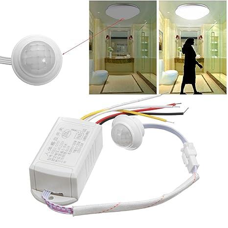 LaDicha 220V 5-8M Ir Cuerpo Infrarrojos Sensor De Movimiento Automático Inteligente Luz Lámpara Interruptor