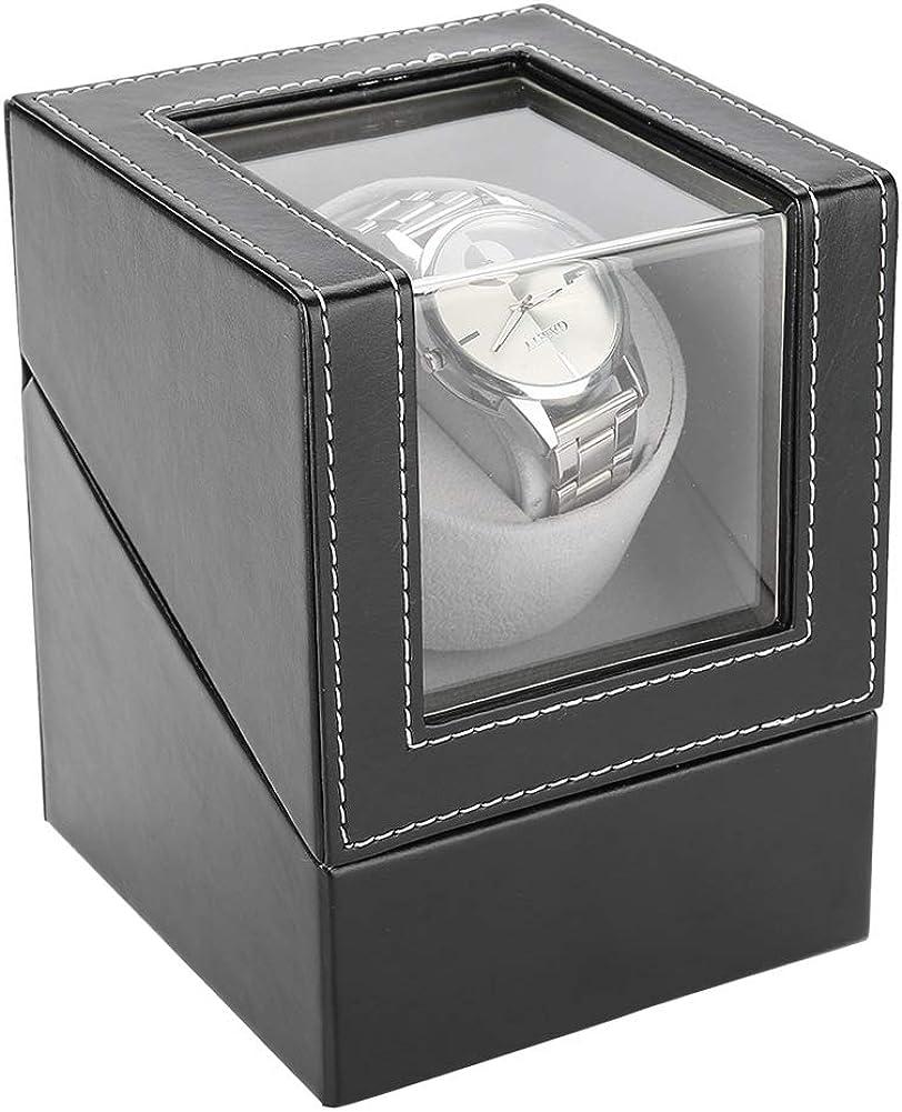 Salmue Watch Winder, Solo Mecánico Automático PU Caja Giratoria para Relojes, Automaticos Silencioso Cajas Giratorias para Relojes, Relojes Organizadora y Exhibición: Amazon.es: Joyería