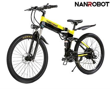 NANROBOT M1 - Bicicleta eléctrica de Iones de Litio de 48 V 10,4 Ah
