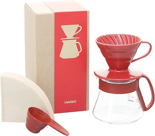 Hario V60 Color Coffee Dripper and Pot, Red: Amazon.es: Hogar