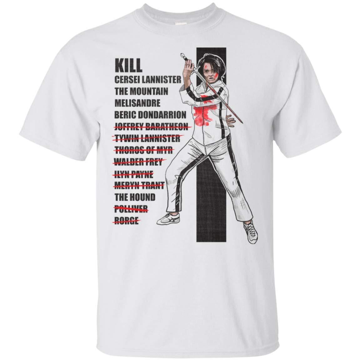 Arya's Kill List Classic Game Of Thrones Fan Tshirt