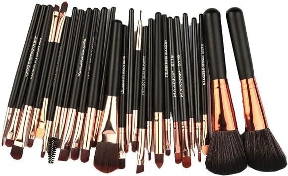 Cocoty-store 2019 Brochas de maquillaje,Juego de brochas de maquillaje 27 Piezas, Cerdas de Fibra Sintética Suaves y sin Crueldad(negro): Amazon.es: Belleza