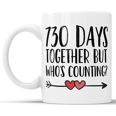 Amazoncom 2nd Anniversary Coffee Mug 730 Days Together But Whos